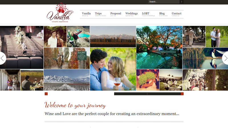 Vanilla Romantic Experiences, Wine and lovers, Wineducation web